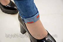 Джинсы женские стрейч с отворотом и необработанным низом Mimod  29р., фото 2