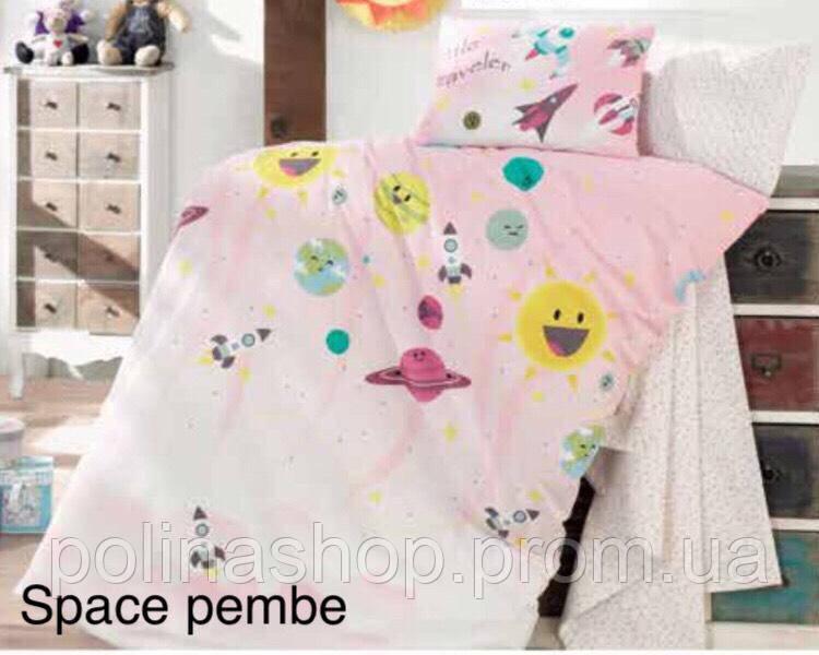 """Детский комплект постельного белья в кроватку ALTINBASAK """"Space pembe"""""""