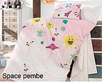"""Детский комплект постельного белья в кроватку ALTINBASAK """"Space pembe"""" , фото 1"""