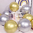 Воздушный шар bubble баблс хром серебро 22 дюйма 60 см, фото 5