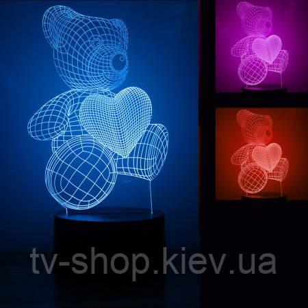 Светильник 3D (12 видов)
