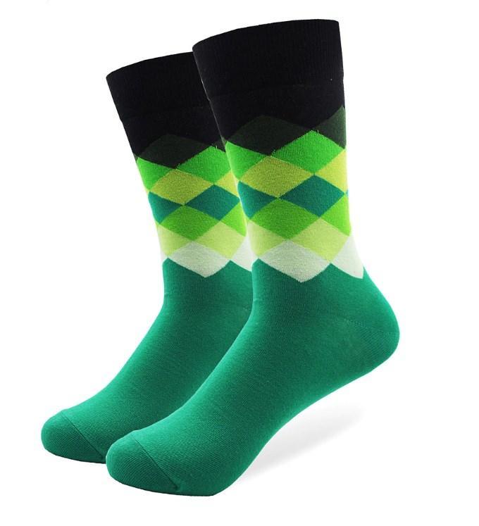 Зеленые мужские высокие носки Friendly Socks