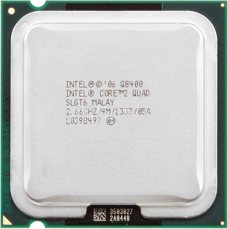 """Процессор Intel Core2 Quad Q8400 (AT80580PJ0674ML) 2.66GHz 1333MHz s775 Tray """"Over-Stock"""" Б/У"""
