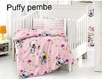 """Детский комплект постельного белья в кроватку ALTINBASAK """"Puffy pembe"""" , фото 1"""