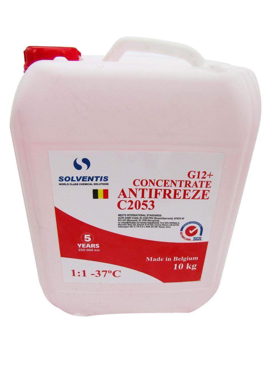 Антифриз концентрат Solventis (10кг) червоний G12+ (Бельгія)