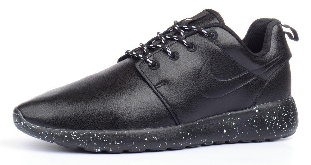 zakupy jak kupić Data wydania: Кроссовки мужские кожаные Nike Roshe Run Oreo черные, Черный, 41