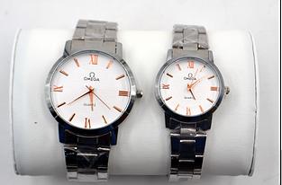 Наручные часы Omega для нее и него. 2 пары в подарочной упаковке!