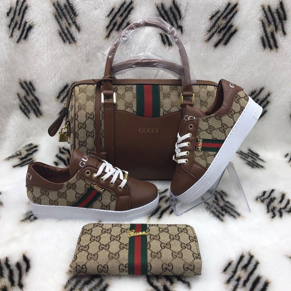 Женский набор (сумочка+кошелек+обувь)
