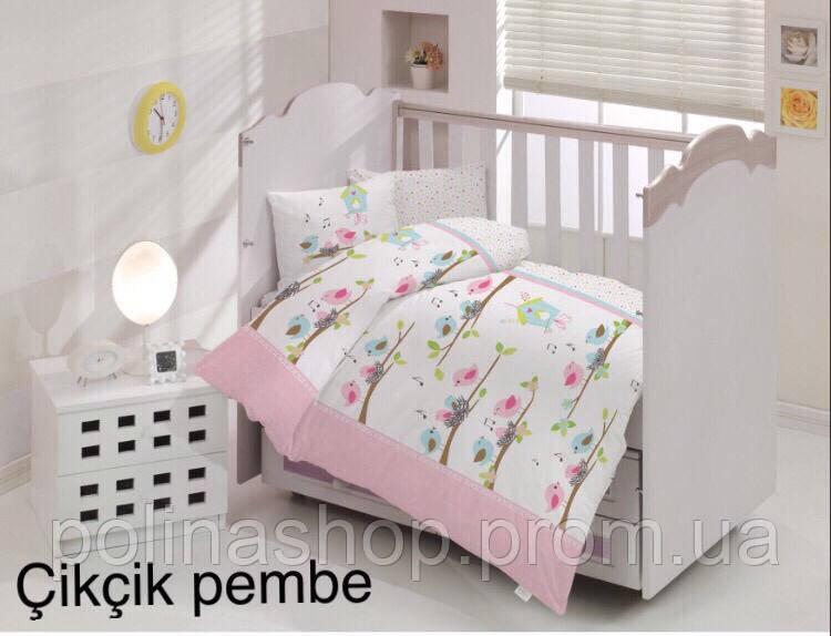 """Детский комплект постельного белья в кроватку ALTINBASAK """"Cikcik pembe"""""""