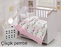 """Детский комплект постельного белья в кроватку ALTINBASAK """"Cikcik pembe"""" , фото 1"""