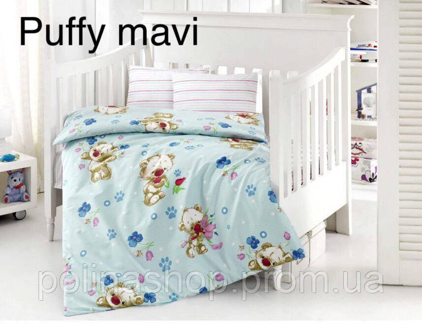 """Детский комплект постельного белья в кроватку ALTINBASAK """"Puffi mavi"""""""
