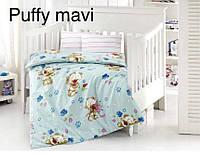 """Детский комплект постельного белья в кроватку ALTINBASAK """"Puffi mavi"""" , фото 1"""