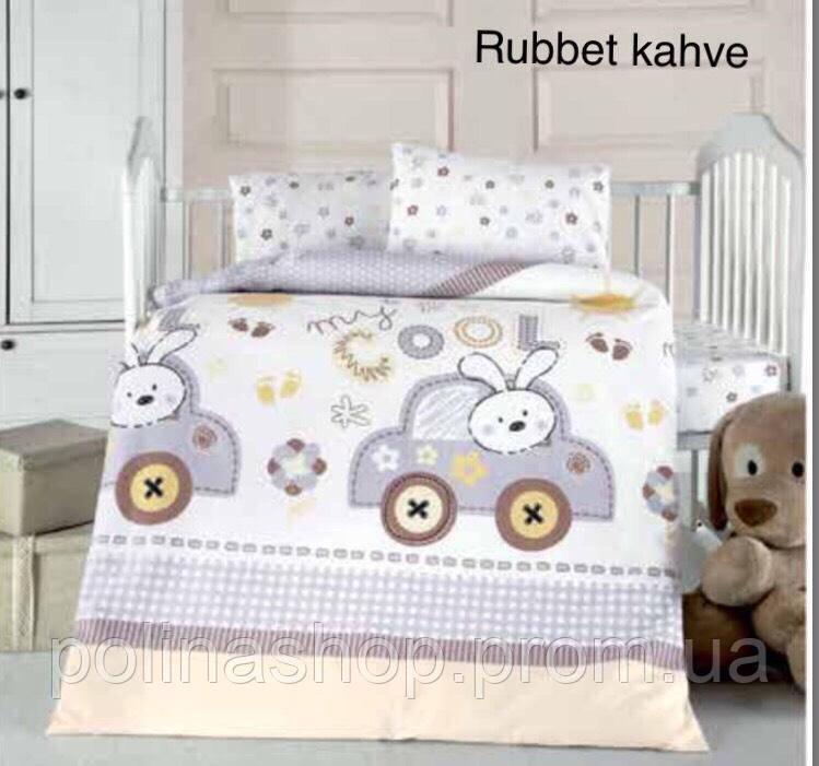"""Детский комплект постельного белья в кроватку ALTINBASAK """"Rubbet kahve"""""""