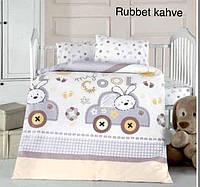 """Детский комплект постельного белья в кроватку ALTINBASAK """"Rubbet kahve"""" , фото 1"""