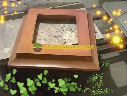Подставка садовых фигур цокольный блок наборного столба колонн ворот калитки забора, крышка.