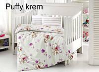"""Детский комплект постельного белья в кроватку ALTINBASAK """"Puffy krem"""" , фото 1"""