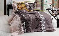Постільний комплект з бязі Крістен Браун: полуторний, двоспальний євро, сімейний