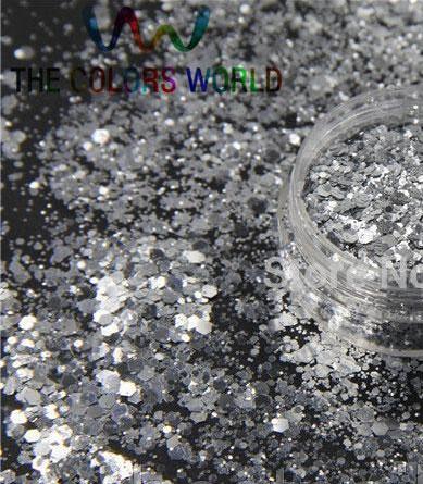 НОВИНКА:Брокат (конфетти) серебро микс для декора