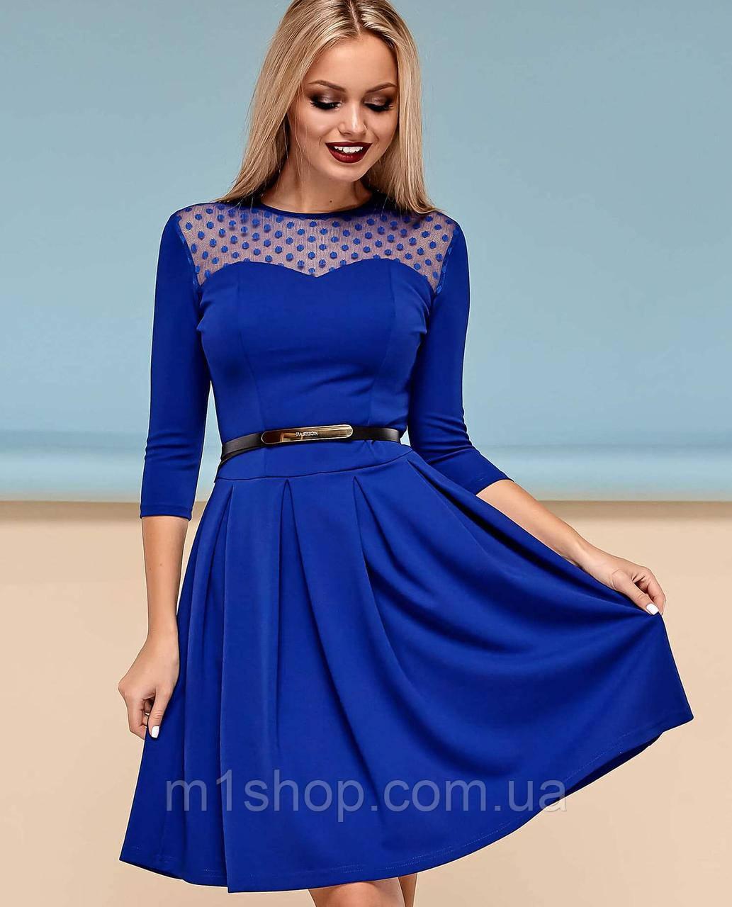 Женское расклешенное платье с сеткой на груди (Долорес jd)
