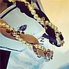 Обруч для волос, ободок в стиле Moschino, обруч пудровый, фото 2