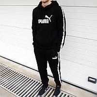 Мужской спортивный костюм Пума, с начесом (ТОП реплика), фото 1