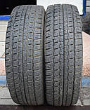 Шины б/у 195/70 R15С Hankook Winter RW06 ЗИМА, 2015 г., пара, фото 2