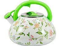 Чайник эмалированный 3 л ПРОВАНС со свистком INTEROS 30 L