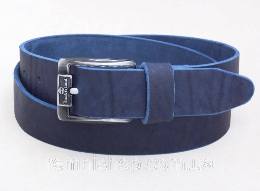 Мужской кожаный ремень Timberland синий