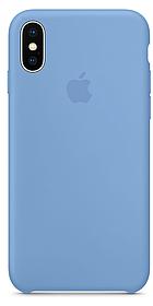 Чехол накладка Silicone Case для iPhone X/Xs Голубой