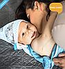 Полотенце детское бамбуковое с капюшоном BabyOno Единороги 100х100 см, фото 10