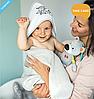 Полотенце детское бамбуковое с капюшоном BabyOno Медвежата 100х100 см, фото 8
