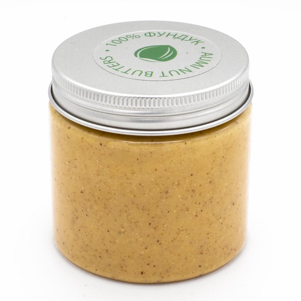 Паста из фундука 190г, натуральная фундучная паста из лесного ореха, без добавок, пэт банка