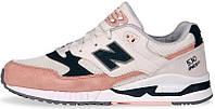 Женские кроссовки New Balance 530 ENCAP Cream Pink (нью беланс 530, бежевые/розовые)