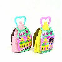 """Кукла  """"L""""  LL 003 раскладной домик-сумочка, аксессуары"""