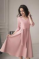Платье с поясом широкая юбка, фото 1
