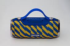 Портативная колонка 4YOU FREEDOM (IPX4, 10W, 1500mah, эксклюз. дизайн, гар 12мес) yellow/blue, фото 3
