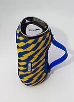 Портативная колонка 4YOU FREEDOM (IPX4, 10W, 1500mah, эксклюз. дизайн, гар 12мес) yellow/blue, фото 2