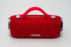 Портативная колонка 4YOU FREEDOM (IPX4, 10W, 1500mah, эксклюз. дизайн, гар 12мес) red , фото 3