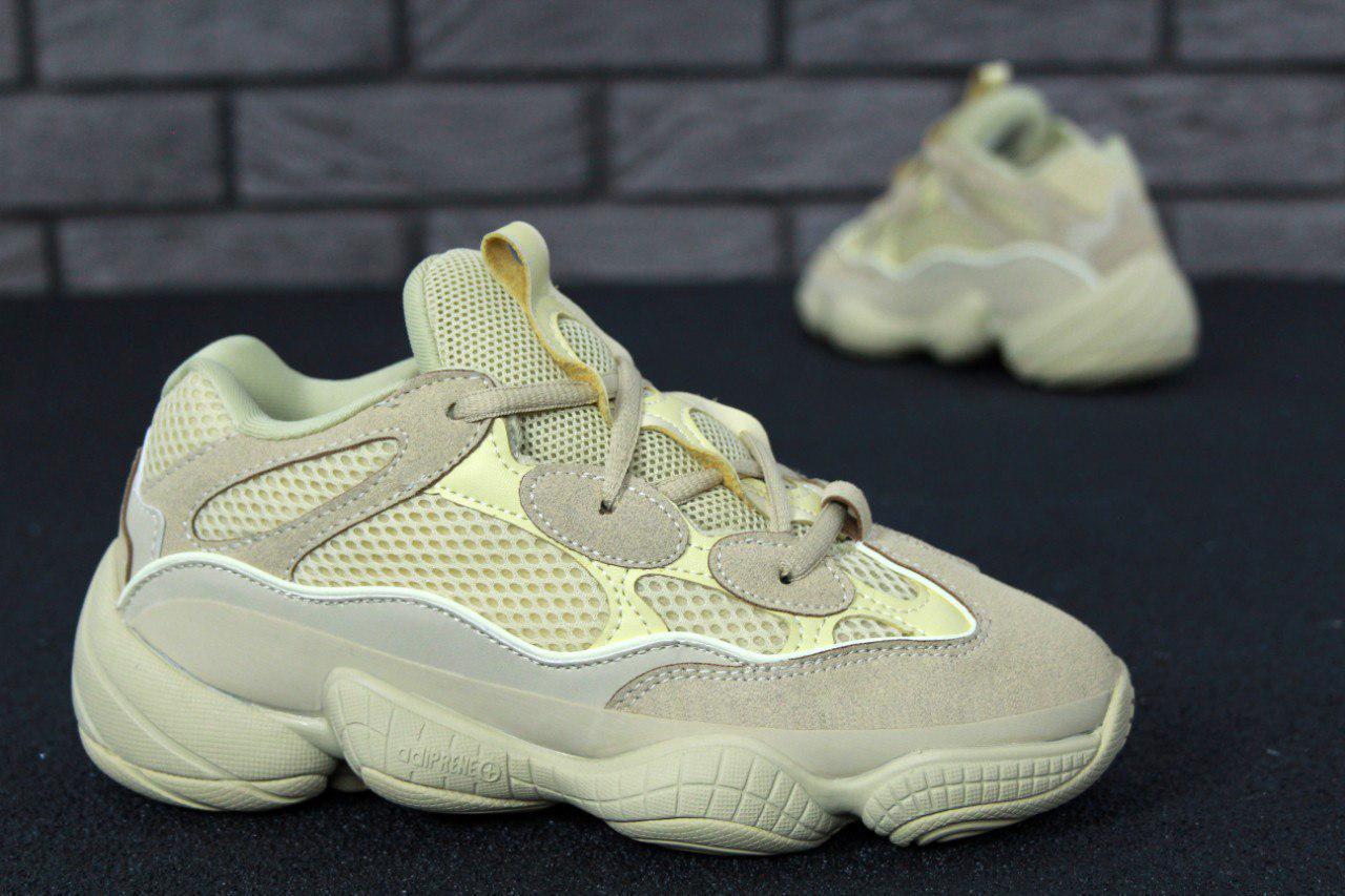 Кроссовки женские Adidas Yeezy Boost 500 31092 бежевые