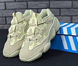 Кроссовки женские Adidas Yeezy Boost 500 31092 бежевые, фото 2