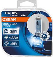 Лампа автомобильная Н4  Р43 12V 60/55W OSRAM COOL BLUEкомплект