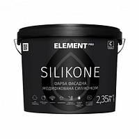 ELEMENT PRO SILIKONE, база З 9,4 л Фасадна фарба акрилова, матова, силиконмодифицированная