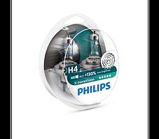 Лампа автомобильная Н4  PHILIPS X-treme Vision +130% комплект