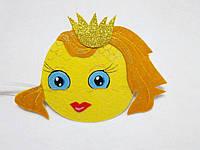 Карнавальная маска на лоб Золотая рыбка Для сюжетно ролевых игр.