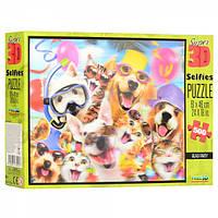 Пазлы 3D 10103 животные (коты, собачки), селфи, 61-46см, 500 дет, в кор-ке,30-20-5,5см