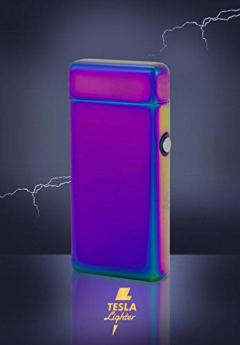 Дуговая зажигалка Tesla Lighter T08 Double-Arc Regenbogen