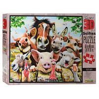 Пазлы 3D 10045  ферма(животные), 61-46см, 500 дет, в кор-ке, 30,5-20-5,5см