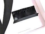 Паше (нагрудный платок для пиджака) черный со стразами блестящий, фото 2