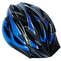 Велосипедный шлем универсальный со съемным козырьком SmartWorld FT-09-3 56-62 см Синий  80840241, КОД: 212424