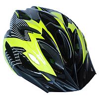 Велосипедный шлем универсальный со съемным козырьком SmartWorld FT-09-15 56-62 см Черный с желтым, КОД: 212426